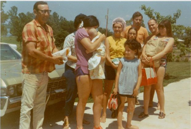 The author, front and center at a family picnic, circa 1969.